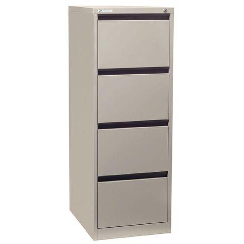 Precision Precision Classic Filing Cabinet 4 Drawer Silver Grey
