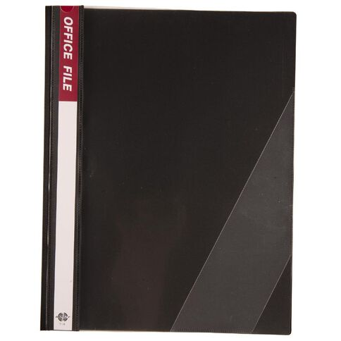 Office Supply Co Report Cover Inside Clip Black A4