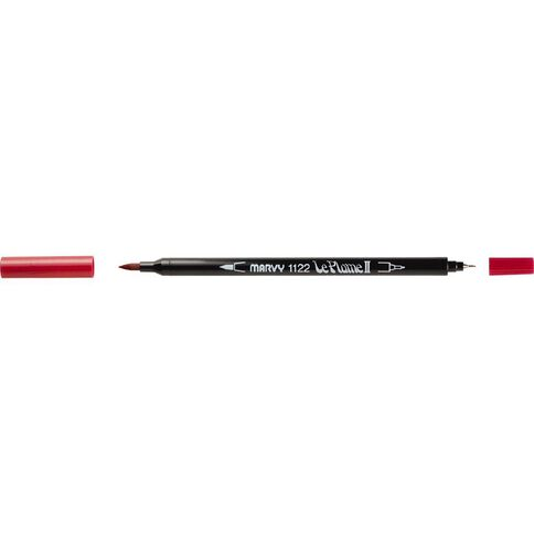 MARVY Le Plume II Dual Tip Marker Crimson Lake