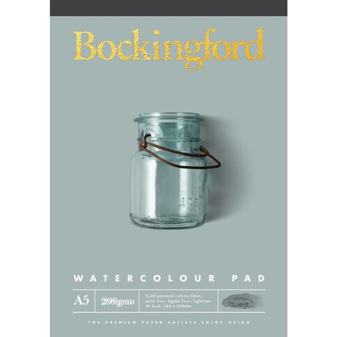 Bockingford Watercolour Pad 200gsm Yellow A5
