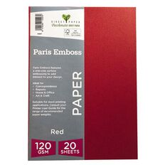 Direct Paper Paris Emboss 120gsm A4 20 Pack Red