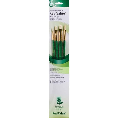 Princeton Artist Brush Co. Brush Bristle Round 2 Flat 4 Fl