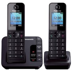 Panasonic Kx-Tgh222Azb Twin Cordless Phone Black