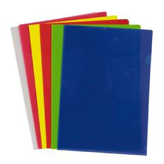 WS L-Shaped Pockets 12 Pack Assorted A4