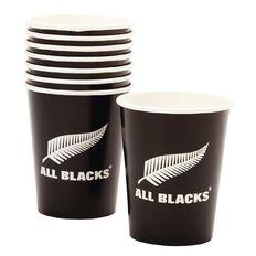All Blacks Paper Cups 250ml 8 Pack