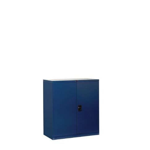 Workspace Cupboard Small Metal 2 Shelves Midnight Blue
