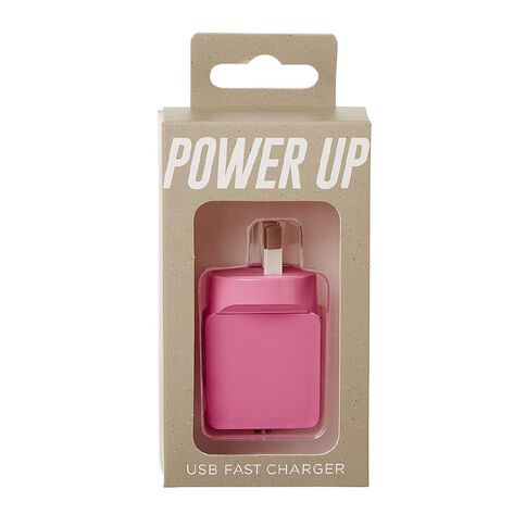 New Craft USB Wall Charger 2.4A Pink