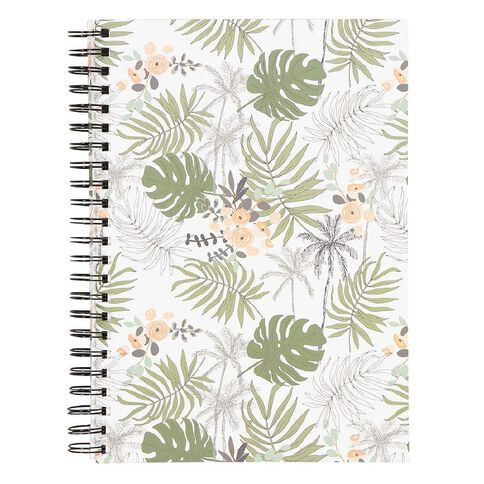 Uniti Visual Diary Spiral Leaf Green 110gsm 60 sheet A4
