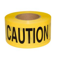 Esko Warning Tape - Caution 75mm X 250m (50 Micron)