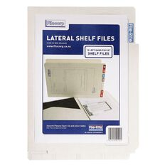 Filecorp 2002 Left Hand Pocket Shelf File 10 Pack White