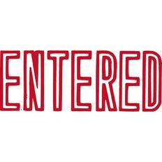 Xstamper Stamp Entered Red