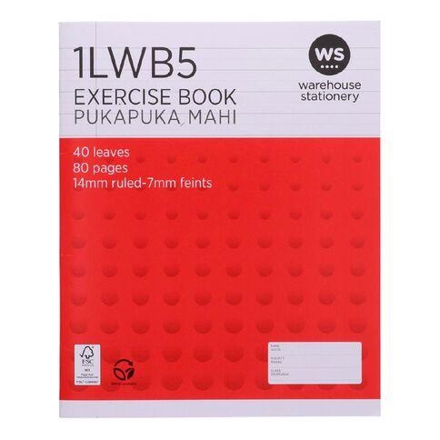 WS Exercise Book 1LWB5 7mm/14mm Ruled 40 Leaf