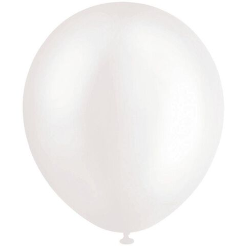 Artwrap Helium Balloons White Pearl 25cm 20 Pack