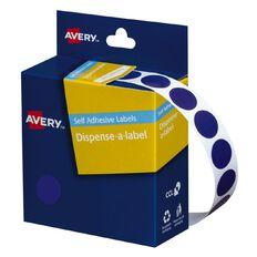 Avery Blue Dispenser Dot Stickers 14mm diameter 1050 Labels