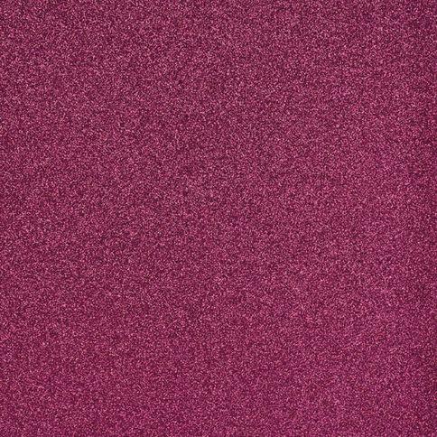 American Crafts Cardstock Glitter Medium 12 x 12 Raspberry Red