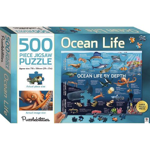 Hinkler Puzzlebilities Ocean Life By Depth 500 Piece Jigsaw Puzzle