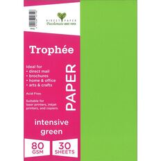 Trophee Paper 80gsm 30 Pack Intensive Green A4
