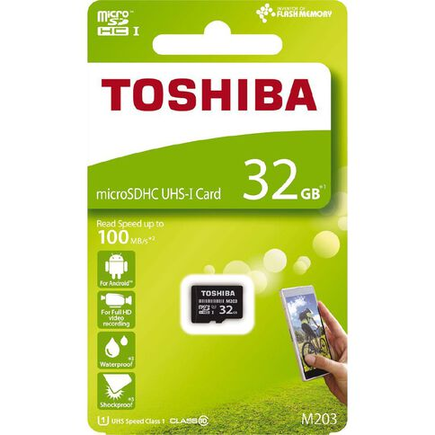 Toshiba 32GB Exceria MicroSD Card M203 Class 10 Black