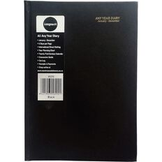 Impact Diary Any Year 2 Dtp Black A5