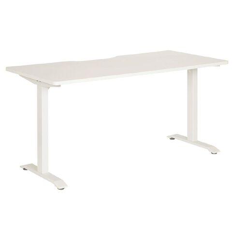 Jasper J Emerge Straight Scallop Desk 1800 WhtWht