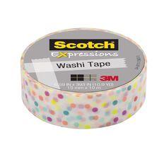 Scotch Washi Craft Tape 15mm x 10m Fun Dots
