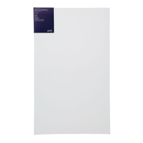 Uniti Blank Canvas 280gsm 20in x 12in 3 Pack