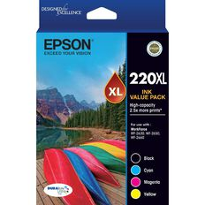 Epson Ink 220XL Value 4 Pack