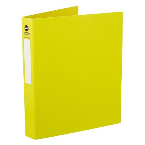 WS Ringbinder 2D 25mm Yellow A4