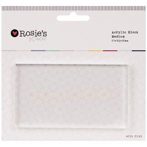 Rosie's Studio Acrylic Block 10cm