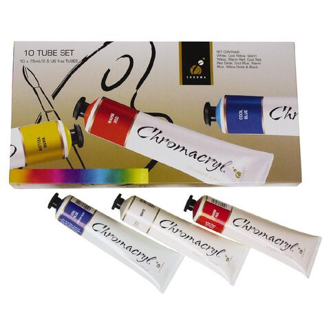 Chromacryl Students Acrylic 10 x 75ml Tube Set