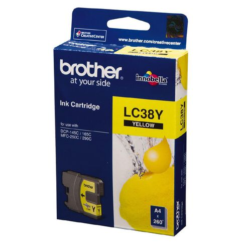 Brother Ink LC38 Yellow (260 Pages)