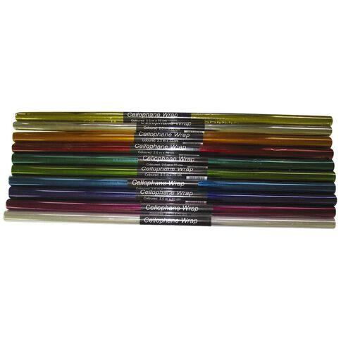 Gbp Cellophane 2m x 70cm Assorted Colours