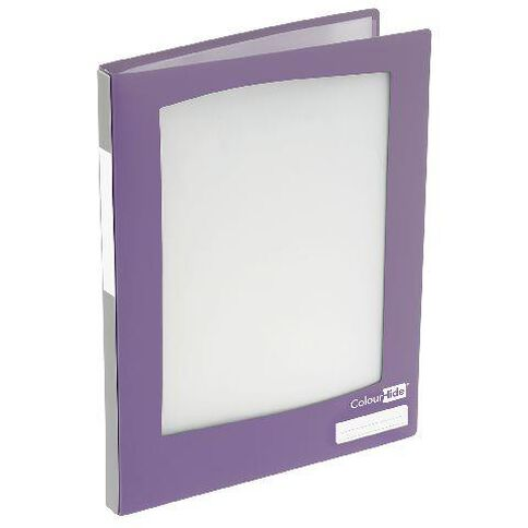ColourHide Refillable Display Book 20 Pockets Purple A4