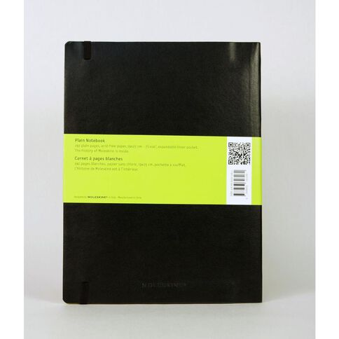Moleskine Classic Soft Cover X Large Notebook Unruled Black