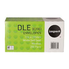 Impact Envelope DLE E20E Window Seal 250 Pack