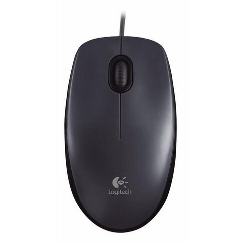 Logitech Corded Mouse M90 Black