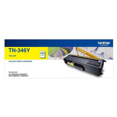 Brother Toner TN346 Yellow (3500 Pages)