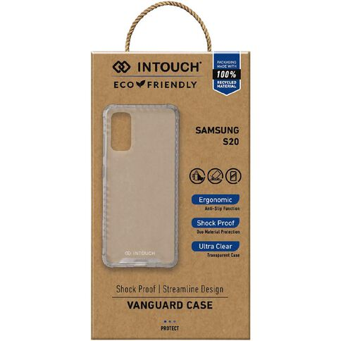 INTOUCH Samsung S20 Vanguard Drop Protection Case Clear