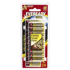 Eveready Gold Batteries AA 20 Pack