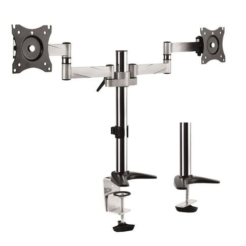 Brateck Aluminium LCD VESA Dual Desk Mount for LCD Screen Size 13-27