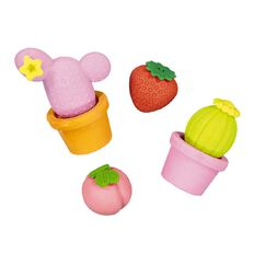 Kookie Novelty19 Plant Eraser 4 Pack