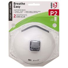 Esko Breathe Easy P2 Valved Disposable Respiratory Mask 2 Pack White