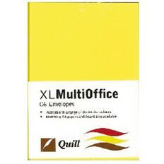 Quill Multioffice Envelopes C6 25 Pack Lemon Yellow