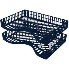 Bic Letter Tray 2 Pack Navy