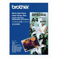 Brother Photo Paper BP60MA Matte 145gsm A4 25 Pack