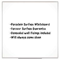 Boyd Visuals Porcelain Whiteboard 900 x 900mm