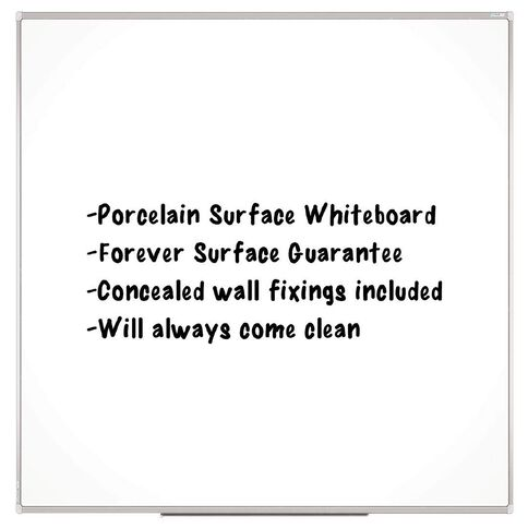 Boyd Visuals Porcelain Whiteboard 900 x 900mm