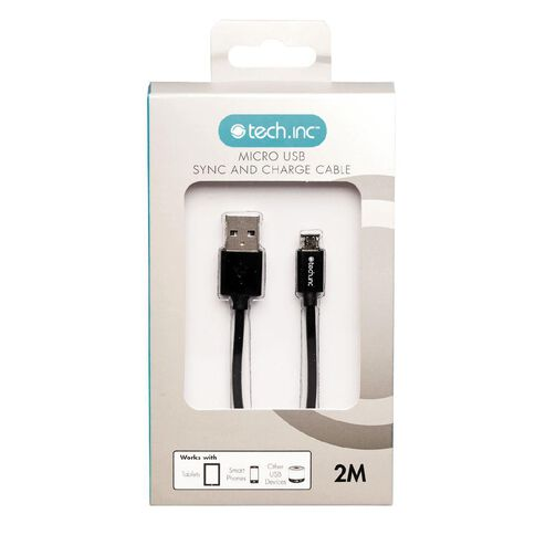Tech.Inc Micro USB Cable 2m Black
