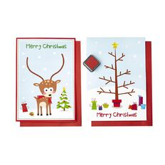 Artwrap Christmas Make Your Own Fingerprint Cards 2 Pack