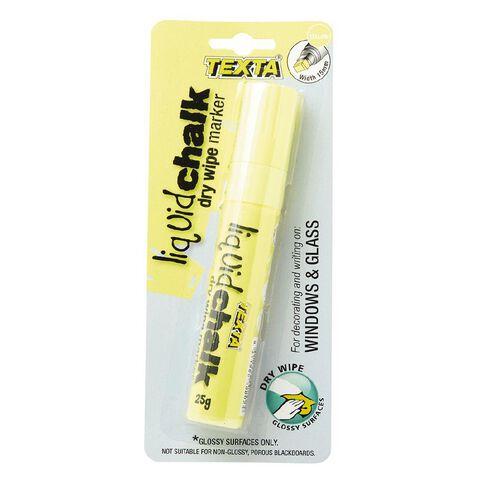 Texta Window Marker Large Yellow